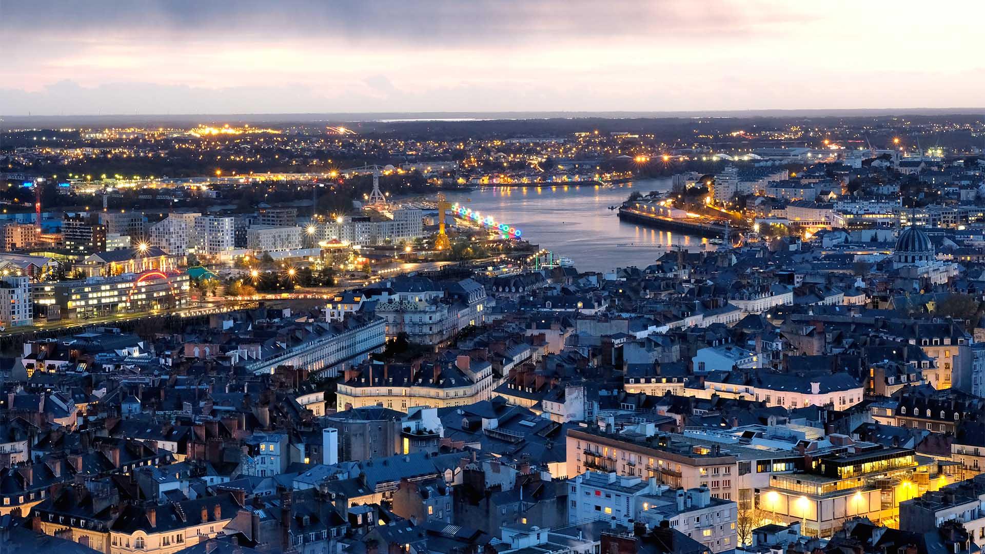 Nantes vue aerienne 1920